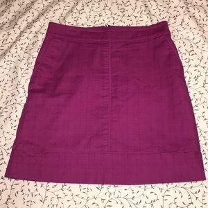 ANN TAYLOR PETITE Fuchsia Skirt